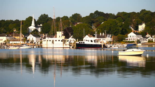 mystic, connecticut - new london county connecticut stock videos & royalty-free footage