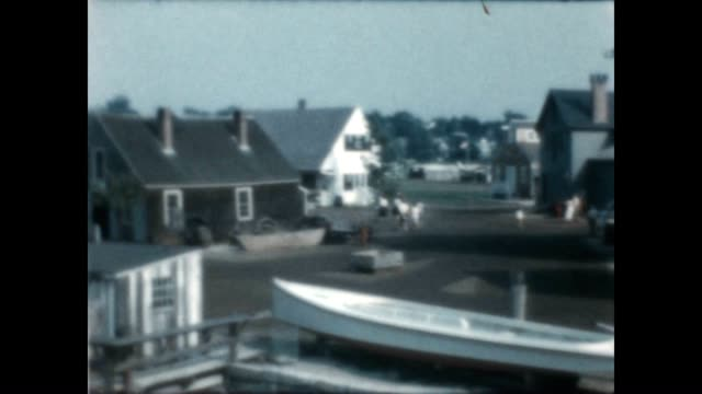mystic seaport with shots of the ship joseph conrad from an archival home movie - joseph conrad stock videos and b-roll footage