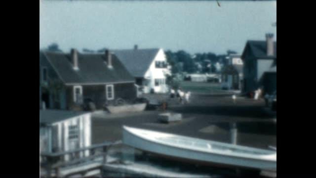 mystic seaport with shots of the ship joseph conrad from an archival home movie - joseph conrad bildbanksvideor och videomaterial från bakom kulisserna