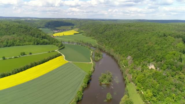 Naab River In Bavaria In Springtime