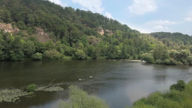 stockvideo's en b-roll-footage met naab-vallei van de rivier in opper-palts in beieren - jura mesozoïcum