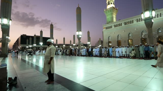nabawi mosque, medina saudi arabia. - prophet stock videos and b-roll footage