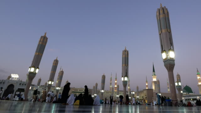 nabawi mosque, medina saudi arabia. - mecca stock videos and b-roll footage