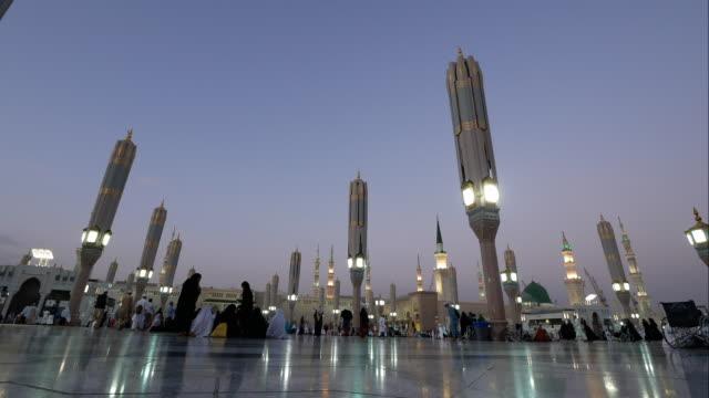 nabawi mosque, medina saudi arabia. - saudi arabia stock videos & royalty-free footage