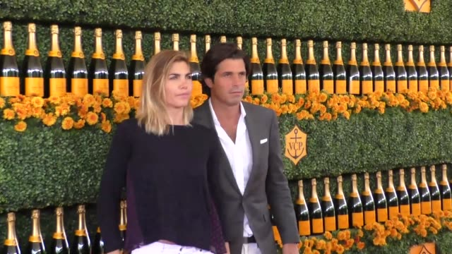 Nacho Figueras and Delfina Blaquier at the sixth annual Veuve Clicquot Polo Classic at Will Rogers Historic State Park in Pacific Palisades at...