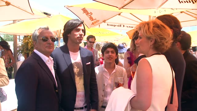 nacho figueras at the fifth annual veuve clicquot polo classic at liberty state park on june 02 2012 in jersey city new jersey - 動物を使うスポーツ点の映像素材/bロール