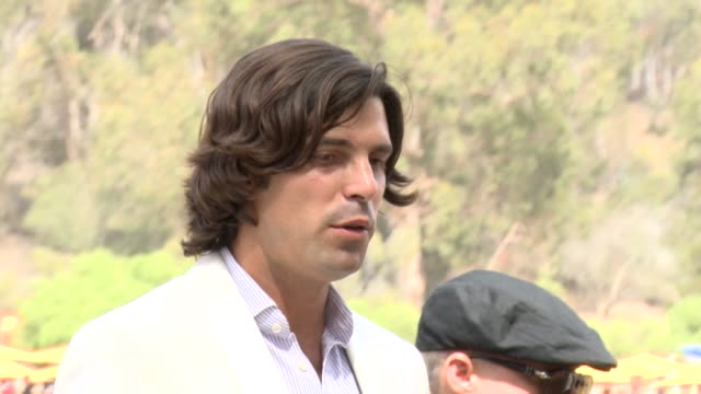 nacho figueras at the third annual veuve clicquot polo classic - los angeles at will rogers state historic park on 10/6/12 in los angeles, california - 出来事の発生点の映像素材/bロール