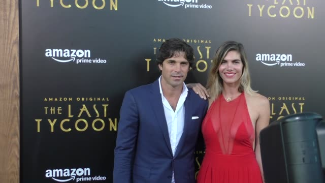 Nacho Figueras Delfina Blaquier at the Amazon Original Series 'The Last Tycoon' Premiere at the Harmony Gold Preview House and Theater on July 27...