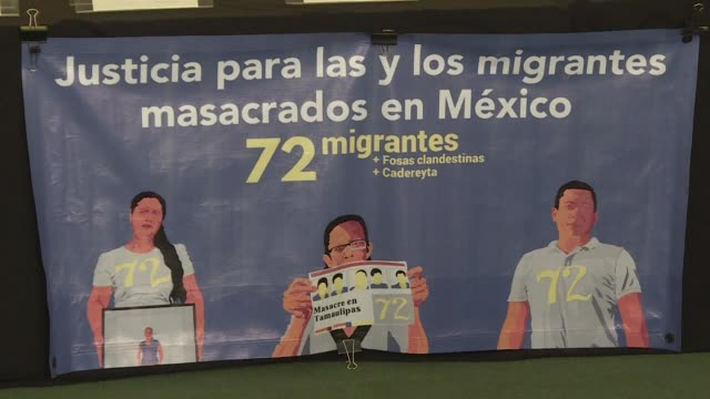 naciones unidas y amnistia internacional rechazaron el jueves la impunidad sobre el caso de los 72 migrantes latinoamericanos masacrados en 2010 en... - naciones unidas stock videos & royalty-free footage