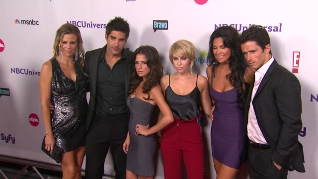 Nadia Bjorlin and cast of Dirty Soap at the NBC Universal Press Tour AllStar Party at Los Angeles CA