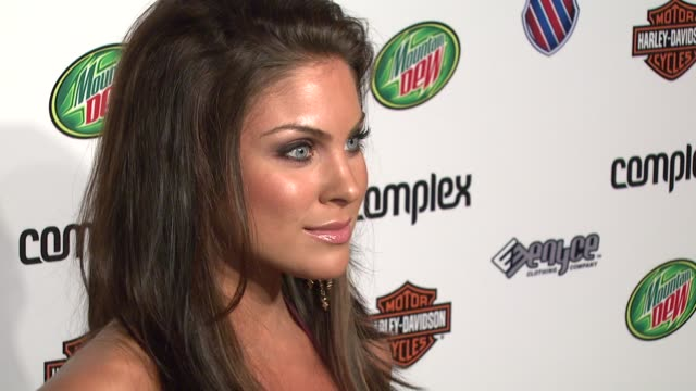 nadia bjorlin at the 5th anniversary of complex magazine hosted by travis barker at area in west hollywood california on april 10 2007 - nadia bjorlin stock videos & royalty-free footage