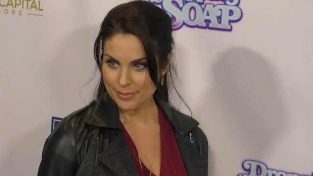 nadia bjorlin at the premiere of glass house distributions' 'dropping the soap' arrivals on march 07 2017 in beverly hills california - nadia bjorlin stock videos & royalty-free footage