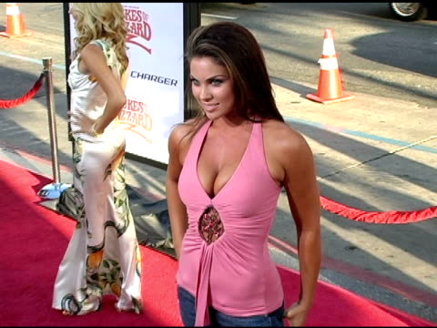 nadia bjorlin at the 'the dukes of hazzard' los angeles premiere at grauman's chinese theatre in hollywood california on july 28 2005 - nadia bjorlin stock videos & royalty-free footage