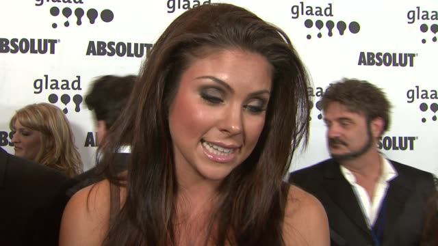 Nadia Bjorlin on being there in support of Lance Bass the event sending a positive message and her new movie at the 18th Annual GLAAD Media Awards at...