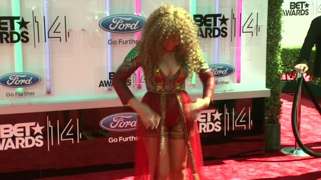 nadia buari at the 2014 bet awards on june 29 2014 in los angeles california - bet awards stock videos and b-roll footage