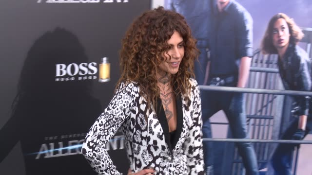 nadia hilker at allegiant new york premiere at amc loews lincoln square 13 theater on march 14 2016 in new york city - amc loews stock videos and b-roll footage