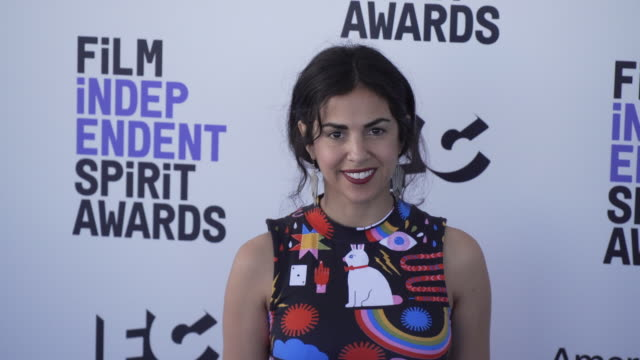 nadia shihab at the 2020 film independent spirit awards on february 08 2020 in santa monica california - film independent spirit awards stock videos & royalty-free footage