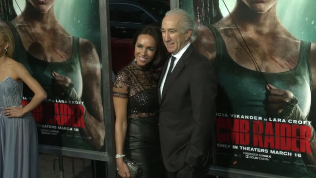 Nadine Barber and Gary Barber at the 'Tomb Raider' Premiere at TCL Chinese Theatre on March 12 2018 in Hollywood California