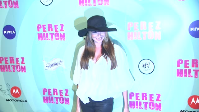 nadine coyle at perez hilton's mad hatter tea party birthday celebration on 3/24/2012 in los angeles ca - mad hatter stock videos and b-roll footage