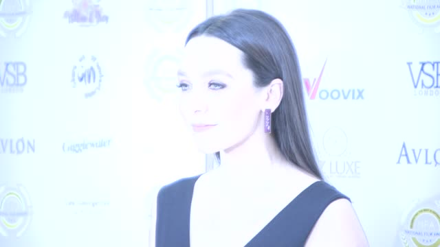 nadine mulkerrin at the 4th annual national film awards at porchester hall on march 28, 2018 in london, england. - ポーチェスター点の映像素材/bロール