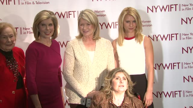 nadine schramm christine baranski martha stewart marcie bloom and claire danes at new york women in film television 31st annual muse awards on in new... - claire danes stock videos and b-roll footage