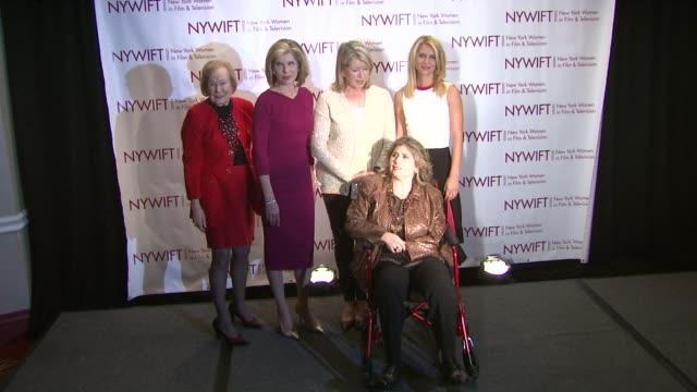 Nadine Schramm Christine Baranski Martha Stewart Marcie Bloom and Claire Danes at New York Women In Film Television 31st Annual Muse Awards on in New...