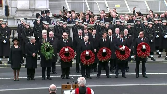 nadir syed convicted of planning 'poppy day' terror attack; r09111407 / whitehall: ext servicemen and members of the clergy gathered before the... - remembrance sunday stock videos & royalty-free footage