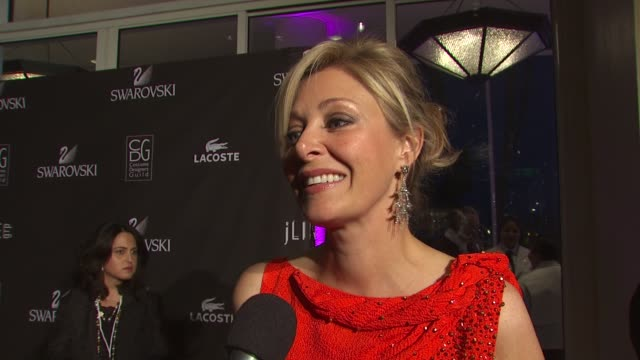 Nadja Swarovski on her dress on Swarovski Crystals involvement in tonight's event and on what she's looking forward to tonight at the 12th Annual...