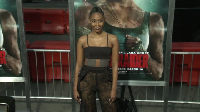 Nafessa Williams at the 'Tomb Raider' Premiere at TCL Chinese Theatre on March 12 2018 in Hollywood California