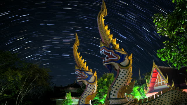 naga statue with star trail - naga river stock videos and b-roll footage