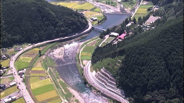 Nagara river flowing through the village.