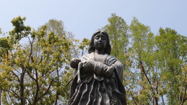 Nagasaki A-Bomb Hypocenter Mother Statue in Nagasaki Peace Park, Japan