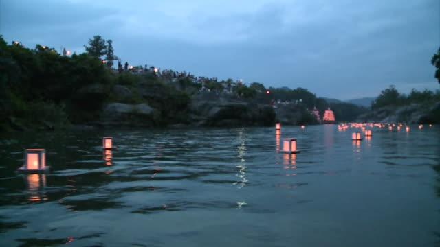nagatoro funadama festival / japanese river festival - lantern stock videos & royalty-free footage