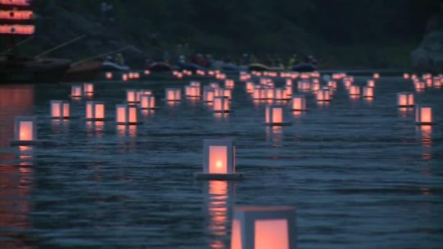 nagatoro funadama festival / japanese river festival - 伝統行事点の映像素材/bロール