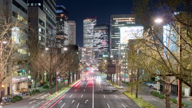 nagoya station central of nagoya time lapse at night - tokyo midtown stock videos & royalty-free footage