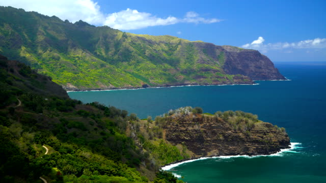 nahoe mountain paradise coastline south pacific hiva oa - polynesian ethnicity stock videos and b-roll footage
