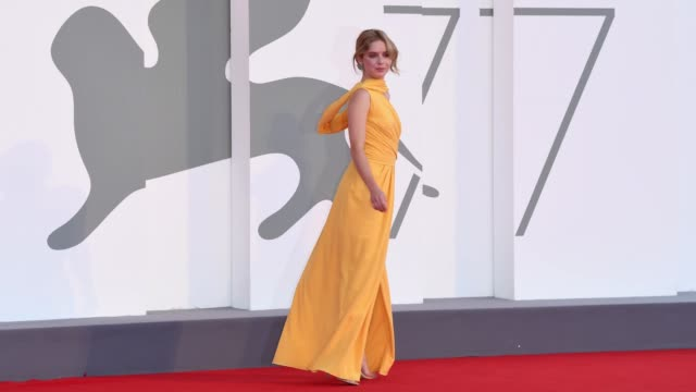 venice italy september 11 naian gonzález norvind walks the red carpet ahead of the movie nomadland at the 77th venice film festival on september 11... - gif stock videos & royalty-free footage