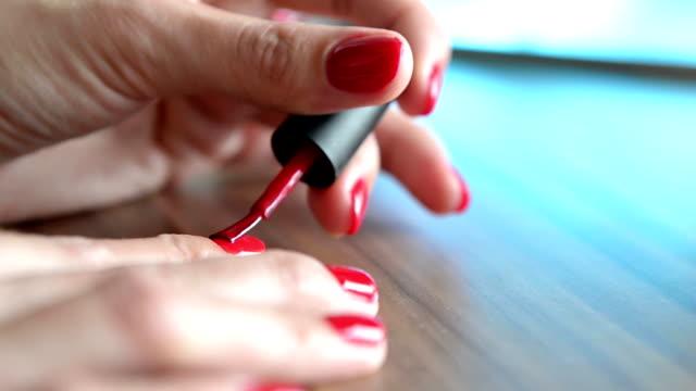 nail polish - applying stock videos and b-roll footage