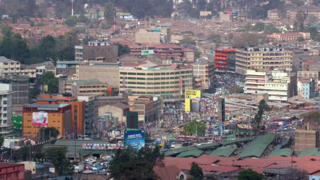 nairobi centre from kenyatta international convention centre nairobi  kenya  africa - ナイロビ点の映像素材/bロール