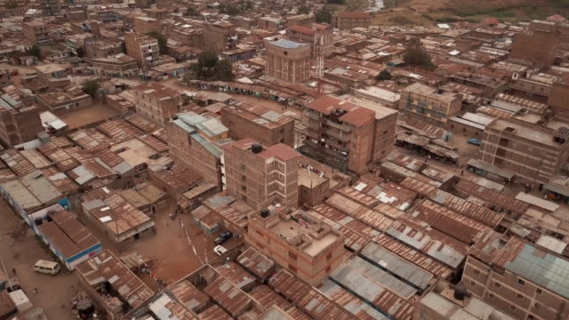 nairobi, kenya slums - aerial - moving image stock videos & royalty-free footage