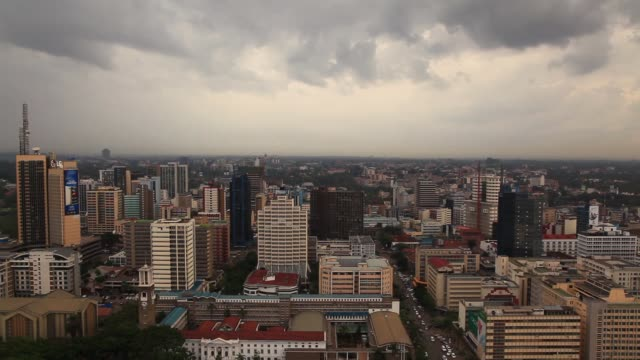 nairobi view from the roof of a skyscraper - nairobi stock videos and b-roll footage