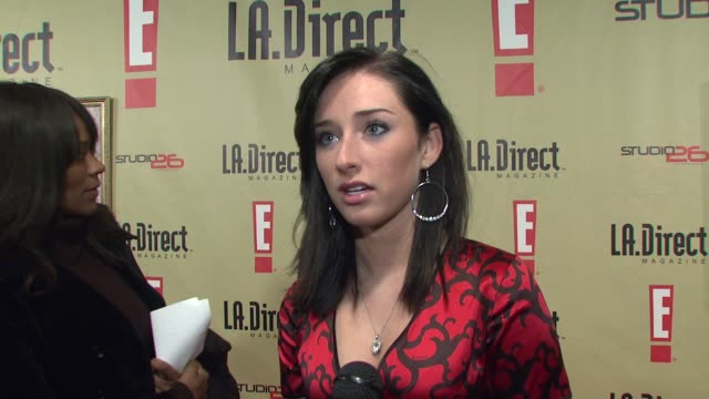 najarra townsend on attending the event on la direct magazine on her favorite thing about the holiday season and on what she's doing in 2008 at the... - les deux club stock videos & royalty-free footage