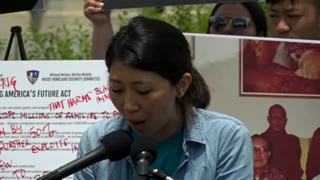 stockvideo's en b-roll-footage met nakasec immigration activist esther jeon says at a news conference as republicans began a renewed immigration effort that she is not a bargaining... - schaakstuk
