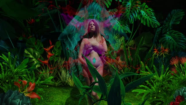 naked beautiful young women in night jungl - witch stock videos & royalty-free footage