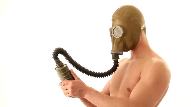 naked-man-with-gas-mask-video-id47272092