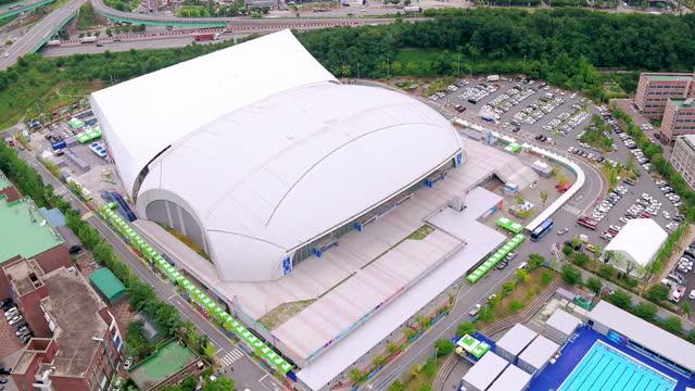 nambu university international swimming pool / gwangsan-gu, gwangju, south korea - large stock videos & royalty-free footage