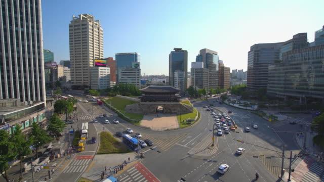 WS HA Namdaemun Gate and Modern Skyscrapers / Seoul, South Korea