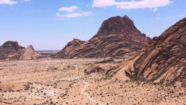 namibia spitzkoppe mountain peak spitzkuppe drone 4k video africa - natural landmark stock videos & royalty-free footage