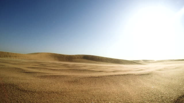 namibian desert. sun shining above sand dunes - desert stock videos & royalty-free footage