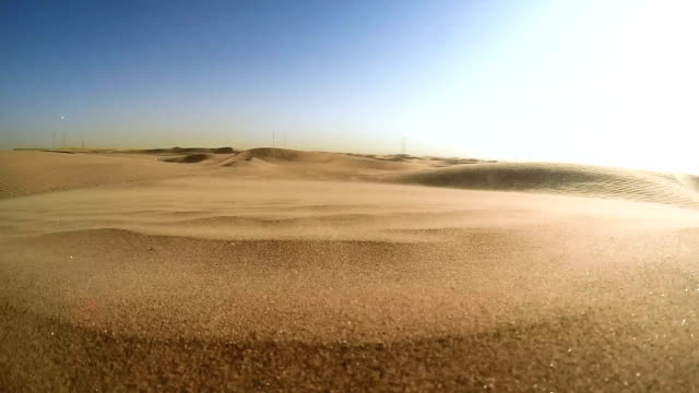 namibian desert. sun shining above sand dunes - sedimentary rock stock videos and b-roll footage